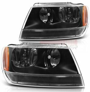 Headlight Assembly For 1999 2004 Jeep Grand Cherokee Front Headlamp Light Pairs
