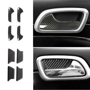 For Jeep Grand Cherokee 2011 20 Side Door Handle Bowl Sticker Cover Carbon Fiber