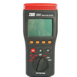 Tes 3660 Autoranging Insulation Resistance Tester Meter New