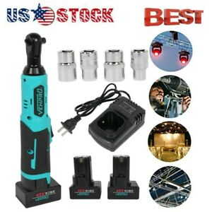 Cordless Electric 3 8 Ratchet Wrench 45v Power Ratchet Tool 2 Battery Charger