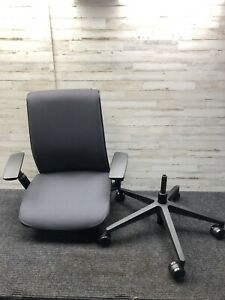 Open Box Steelcase Leap Chair Fully Loaded Black Fabric Model 465a000