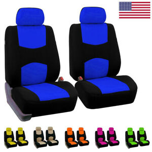 Car Seat Cover Flat Cloth Front Set Universal Fit For Auto Truck Suv