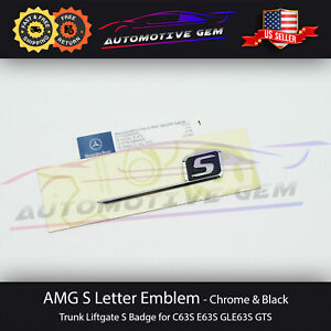 Mercedes Oem Amg S Letter Trunk Emblem Chrome Badge Sticker C63s E63s G63s