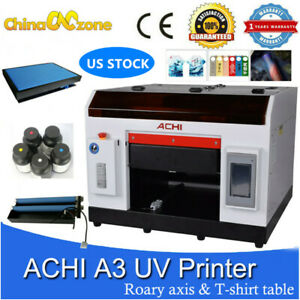 Achi A3 Uv Printer Rotary Holder For Flat Cylindrical T shirt Table Us Stock