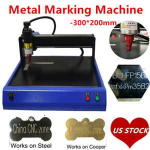 Electric Metal Marking Engraving Router Machine 300x200mm For Signs Tag Steel Us