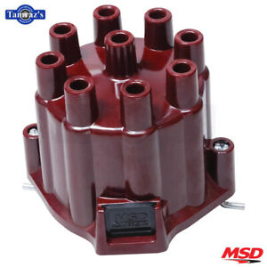 Msd Distributor Cap Use W Rotor P n 8467 Fits Chevy V8 Red