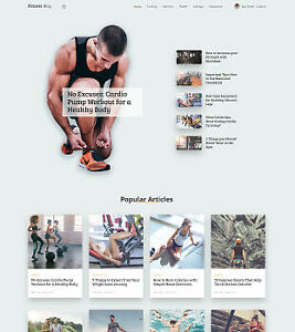 Fully Autopilot Fitness Website With Free Domain And Hosting