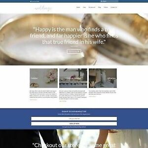 Fully Stocked Dropshipping Wedding Products Website Business For Sale Domain