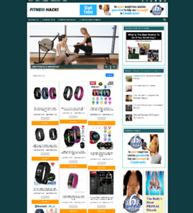 Fully Stocked Fitness Hacks Website With Affiliate Store New Domain Hosting
