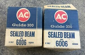 Vintage Oem Ac Delco 6 Volt Sealed Beam Headlight Headlamp Light Guide T 3 6006