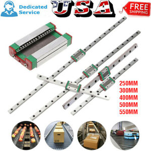 Mgn12h Sliding Block Support Linear Guide Rail 250mm 400mm 500mm 550mm Cnc Tool