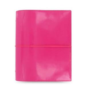 Filofax A5 Domino Patent Organizer Planner Notebook Diary Hot Pink 022482 Chic