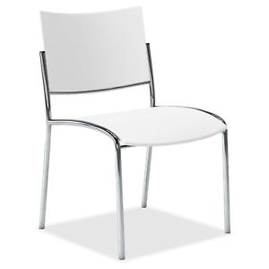 Mayline Escalate Series Seating Stackable Chairs Plastic White Seat Plastic