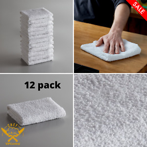 12 Pack 16 X 19 Inches Choice 32 Oz White Cotton Ribbed Terry Bar Towel Kichen