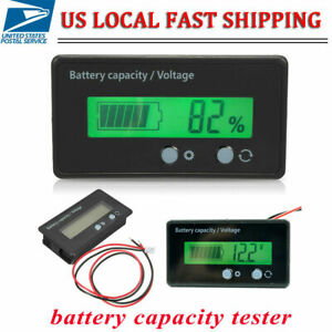 6 70v Lcd Battery Capacity Voltage Tester Meter Monitor Voltmeter Indicator New