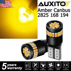 Auxito Amber Led Front Side Marker Light Bulbs 168 194 2825 T10 45d Free Return