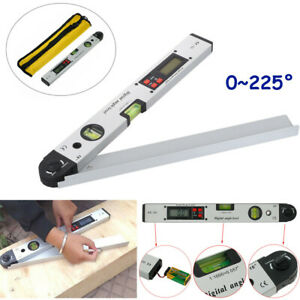 Protractor Spirit Level Digital Angle Finder Gauge Meter Inclinometer 0 225