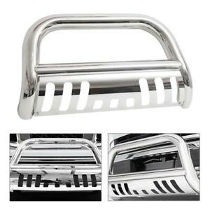 Front Bull Bar Bumper Grille Push Guard For 2004 2017 Ford F150 Chrome Stainless