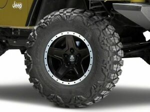 Mammoth Boulder Bead Lock Style Wheel In Black 16x8 Fits Jeep Wrangler Tj 97 06