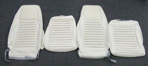1970 Mustang Mach 1 New Tmi White Front Bucket Seat Upholstery 2 Seats
