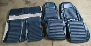1970 Mustang Mach 1 New Tmi Blue Front Rear Bucket Seat Upholstery