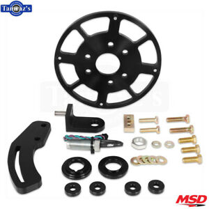 Msd 8 Flying Magnet Crank Trigger Kit Fits Small Block Chevy Black
