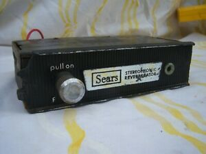 Vintage Sears Stereophonic Reverberator Car Auto Truck Radio Reverb Unit Rat Rod