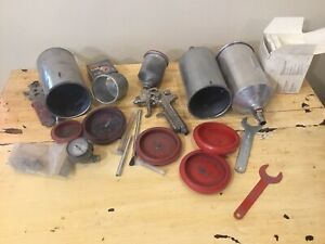 Sata Spray Gun Lot Mini Jet Hvlp 3 Solvent Canisters