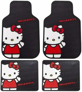 Seat Rubber Floor Mat Waving Hello Kitty Sanrio Front Rear Cars Trucks Suv
