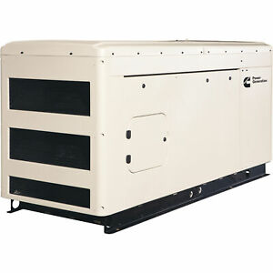 Cummins Commercial Standby Generator 30 Kw Lp ng 120 208v 3 phase Model Rs30