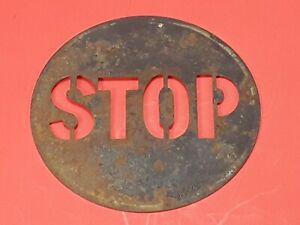 Vintage Stop Light Metal Lens Insert Truck Car Auto Ford Early Original
