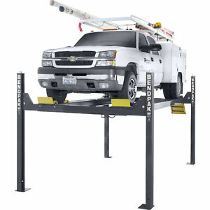 Bendpak 4 post Lift With 82in Rise 14 000 lb Capacity Model Hd14t