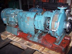 Goulds 1x2 10 Stainless Steel Centrifugal Pump 7 5 Hp 50 Gpm 460 Vac 316ss 3196