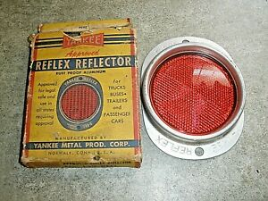 New Vintage Nos Yankee Reflex Reflector Rust Proof Aluminum Light 139 red In Box