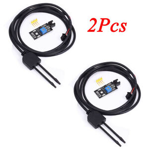 2pcs Soil Humidity Hygrometer Moisture Detection Sensor Module For Arduino Lot