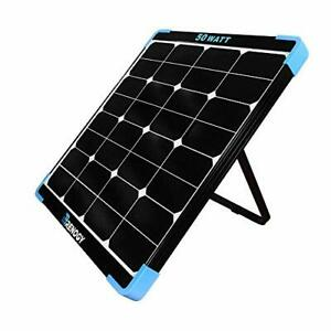 Renogy 50w 12v Eclipse Monocrystalline Portable Solar Panel Built in Kickstan 87
