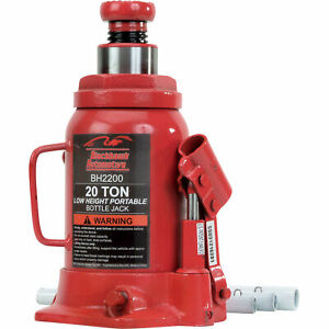 Blackhawk Automotive Heavy Duty Hydraulic Bottle Jack 20 Ton Bh2200