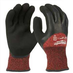 Milwaukee 48 22 8921 Milwaukee Cut Level 3 Winter Insulated Gloves M New