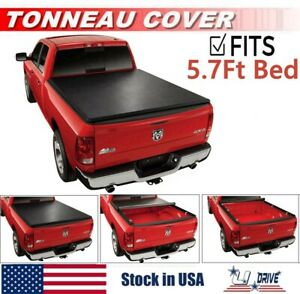 Roll Up Soft Tonneau Cover For 2009 2018 Dodge Ram 1500 5 7ft Short Bed Cover