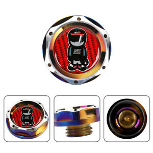 Jdm Neo Engine Oil Cap With Real Red Mugen Racer Carbon Sticker For Honda