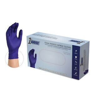 1000 1st Choice 3 Mil Exam Medical Latex Free Nitrile Disposable Gloves Indigo