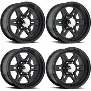 17x9 Raceline 891 Renegade 6 6x5 5 6x139 7 0 Black Wheels Rims Set 4
