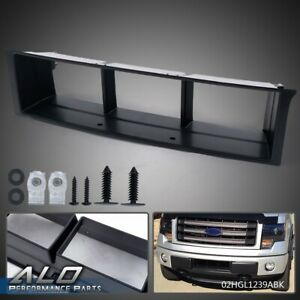 For 2009 2014 Ford F 150 Front Bumper Lower Grille Insert Trim Panel Black