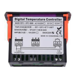 Stc 3000 220v Touch Digital Temperature Controller Thermostat With Sensor 30a Us