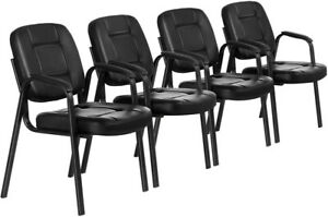 High Quality 4pcs Waiting Room Sturdy Conference Chair Office Chair Reception Us