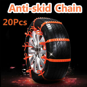 20pcs Anti skid Chain For Snow Mud Car Truck Wheel Winter Driving Tire Cable Tie