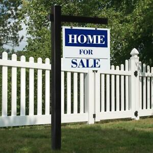 72 36 Inch Upvc Real Estate Sign Post Open House Yard Garden For Sale w Stake