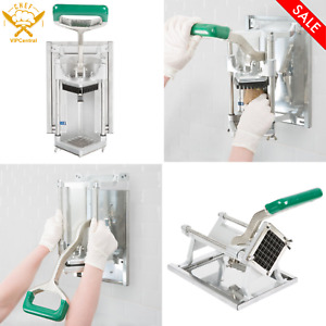 1 2 In French Fry Cutter With Wall Mount Bracket Restaurant Commercial Kitchen