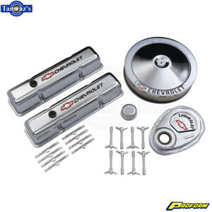 Proform Dress up Kit With Bowtie chrome For 1958 1986 Chevy Small Block