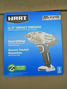 Hart 20v Cordless Impact Wrench 1 2 Drive Lithium Hpiw01 Bare Tool Only